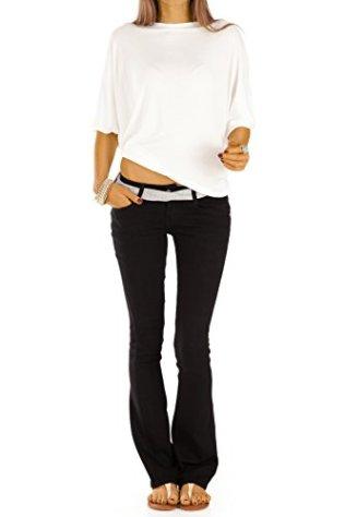 bestyledberlin-Damen-Boot-Cut-Jeans-Schlaghosen-Ausgestellte-Hftjeans-j74kw-34XS