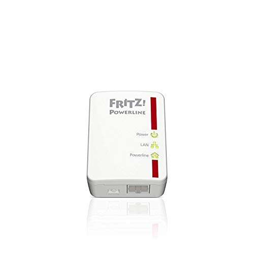 AVM FRITZ! Powerline 510E Kit di 2 Adattatori, Fino a 500 Mbit/s, Porta Fast Ethernet, Plug and...