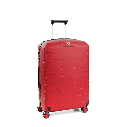 Roncato Box 2.0 Trolley Medio - 4 Ruote, 69 Cm, 80 Litri, Rosso