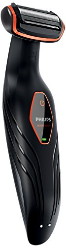 Philips BG2024/15 - Afeitadora corporal sin cable, 1 peine, 3 mm, color negro y naranja
