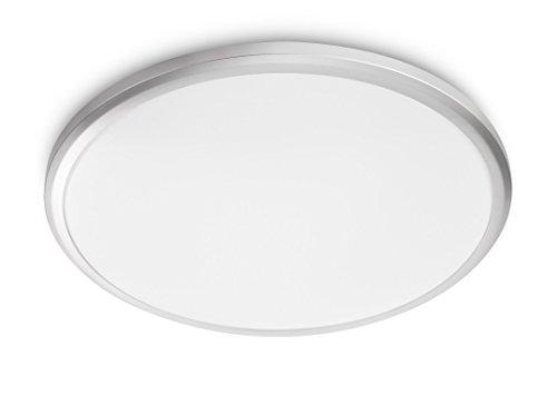 Philips myLiving Twirl - Plafón, LED, iluminación interior, 12 W, luz blanca cálida, color gris