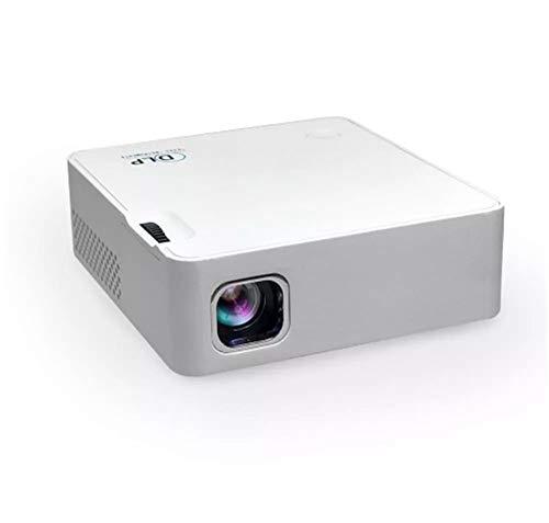 Yhjklm Heimkino-Projektor Weiß WiFi Wirless 50 ANSI Lumen 1920x1080 EZcast OS DLP-Projektor (Farbe : Weiß, Größe : Einheitsgröße)