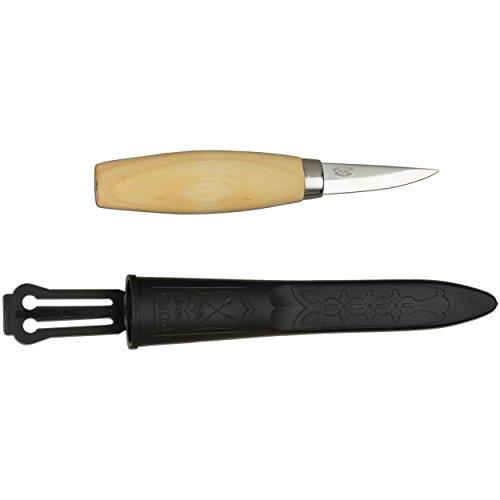 Morakniv Werkzeug Kerbschnitzmesser geölter Birkenholzgriff 3-lagig Gesamtlänge: 17.0 cm Messer, Grau, M