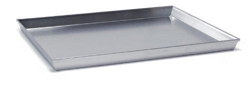 Ballarini 7044.50 Teglia Rettangolare, Angoli Svasati con Bordo in Alluminio Crudo, 50x35