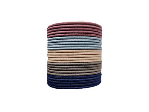 EVOGIRL Circle Shaped Hair Ties Everyday Wear Soft & Strong Ponytail Holder Pastel Shade Small Pack Rubber Bands,for Women/Girls,25, 50, 100 Pack (25Pack)