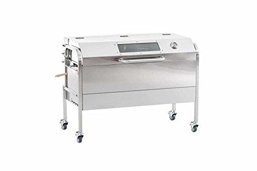 CLP Girarrosto Elettrico Professionale con Spiedo per Porchetta MATTHEW - Barbecue a Gas o a Carbone...