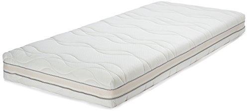 AmazonBasics - Materasso singolo extra comfort in memory foam a 7 zone, 90 x 200 cm, poliuretano