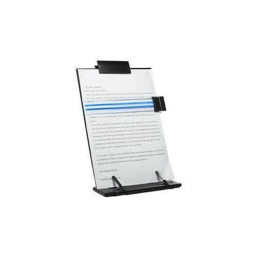 Schreibtisch-Dokumentenhalter aus Metall, 7 verstellbare Positionen, Schwarz 1
