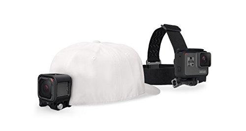 GoPro Headstrap+ Quickclip Fissaggio su Cappelli o Oggetti, Nero/Antracite
