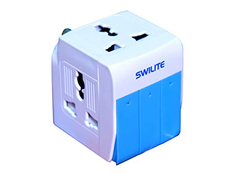 Swilite Multi Plug with 3 Switches 3 Sockets and Indicator
