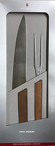 Victorinox Swiss Modern - Set di 2 coltelli trincianti in Noce