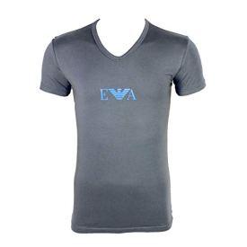 Emporio-Armani-Camiseta-Manga-Corta-para-Hombre-Gris-Gris-Oscuro-XL