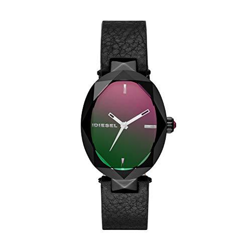Diesel Damen Analog Quarz Uhr mit Leder Armband DZ5578