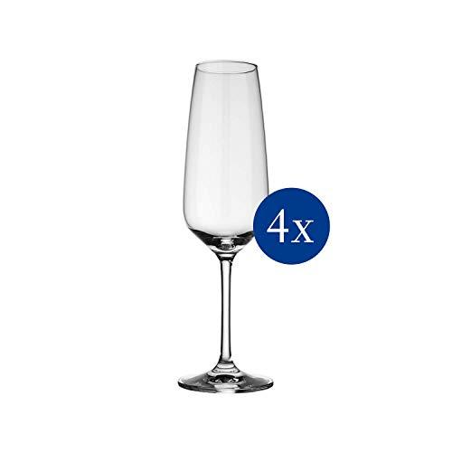 Vivo by Villeroy & Boch Group Voice Basic Flute da Champagne, Set da 4 Pezzi, 283 ml, Cristallo,...
