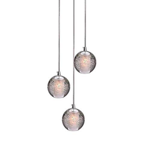 LED Cristallo Palla Lampada a sospensione per Soggiorno loft Scala Foyer Sala da pranzo Tavolo Bar...