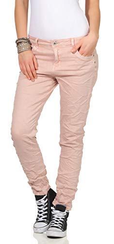 KAROSTAR Chino Damen Jeans Baggy Hose Boyfriend Hüfthose 19 (42,...