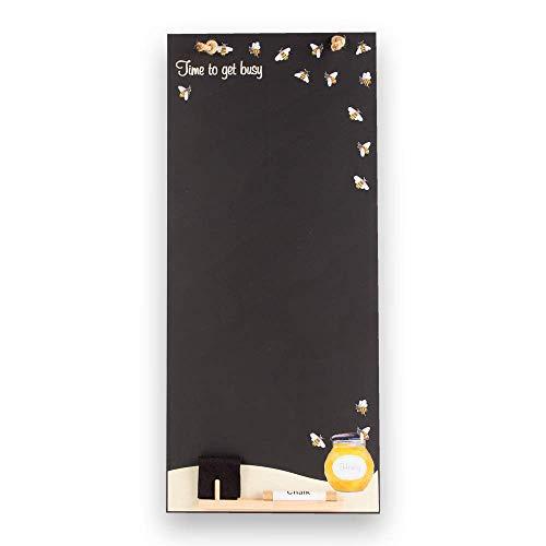 Chalkboards UK Honey Bees Alto Sottile Lavagna/Lavagna/memo Board con Corda da Cucina, Vassoio e...