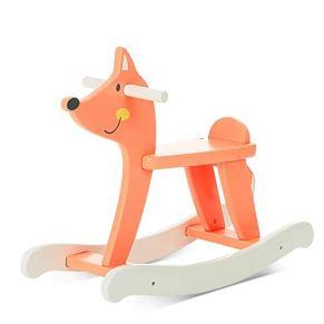 LIULAOHAN Caballo de oscilación del bebé, Silla Mecedora Fox Tumbona de Madera para niños Caballo Mecedora Edad del bebé…
