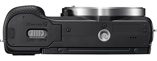 """Sony A5000 - Cámara réflex digital de 20.1 MP (pantalla articulada 3"""", estabilizador, vídeo Full HD, WiFi), color negro - kit con objetivo 16-50mm f/3.5 OSS), color negro"""