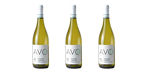 3 Bottiglie di Trebbiano d'Abruzzo DOC'AVO' | Cantina Valle Martello | Annata 2018