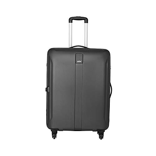 Safari Thorium Sharp Antiscratch 66 Cms Polycarbonate Black Check-In 4 wheels Hard Suitcase