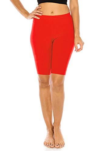 FUNGO Leggings Da Donna 1/2 Leggins Lungo Yoga Fitness Palestra Pantaloni f12 (Rosso, 44)