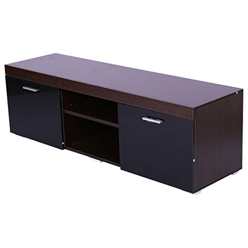 homcom Moderno Mobile Porta TV con Due Ante in Legno 140 x 40 x 44cm