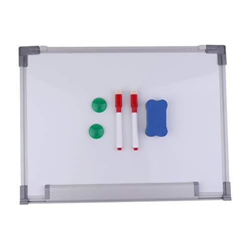 IPOTCH 1 Kit di Lavagna Bianca Laccata con Telaio in Alluminio per Presentazioni Didattiche -...