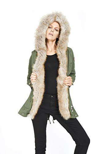 Dakota - Eskimo Donna Marmot - Parka Cappuccio Ecopelliccia Cappotto Inverno 2019 Moda Giacca Giubbotto ...
