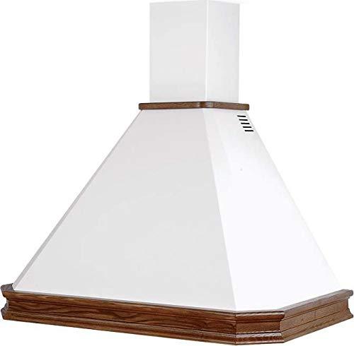 Cappa Cucina Filtrante - Aspirante Pareta 90x50 cm Trave Noce Scuro RUSTICA ECO 90