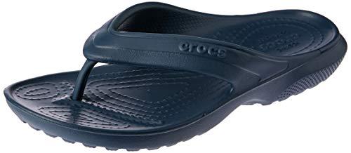 Crocs Classic Flip K Ciabatte, Unisex Bambini, Blu (Nav), 33/34 (J2 UK)