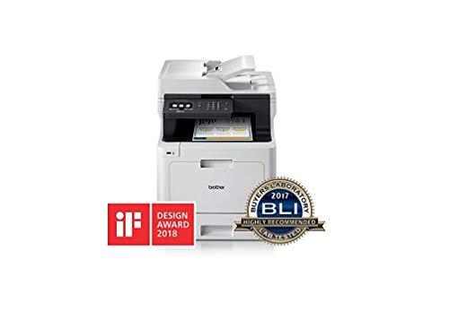 Brother MFC-L8690CDW Stampante Multifunzione a Colori 4 in 1, WiFi, Scheda di Rete e Display...
