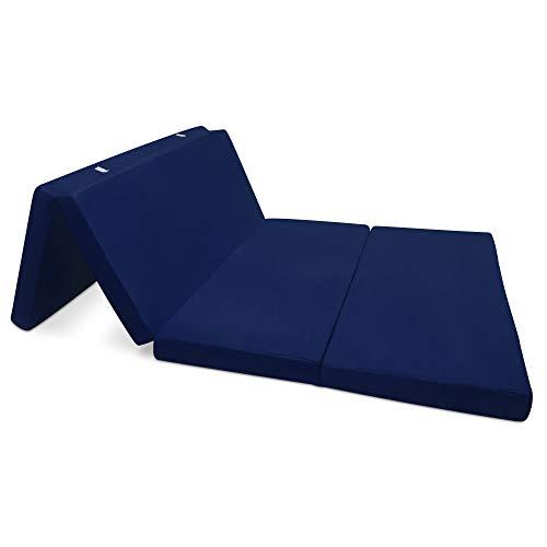 Beautissu Materassino Campeggio futon Pieghevole Ospiti Campix 120x195cm soffice Confortevole e...