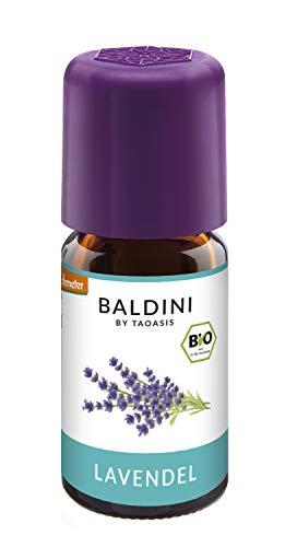 Baldini - Lavendelöl BIO, 100{b9312fe63aa0592b16d0dcdd218ccba29e53ebf152d8ab87efeb13d8ecccb1f1} naturreines ätherisches BIO Lavendel Öl fein aus Frankreich, Bio Aroma, 5 ml