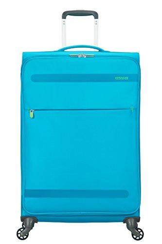 American Tourister Herolite Spinner Espandibile Valigia, Blu (MIGHTY BLUE), L (74cm-95L)