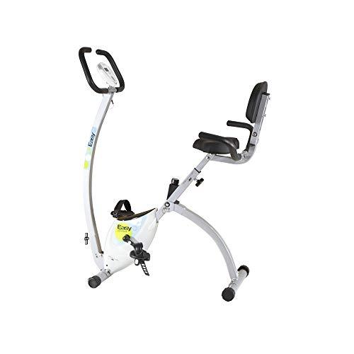 BH Fitness Easy C Bicicleta Plegable con Respaldo, Unisex, Blanco