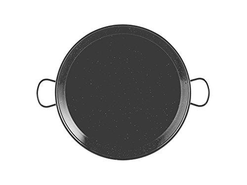 La Valenciana Pfanne 10 cm, emaillierter Edelstahl, Paella-Pfanne, Schwarz 50 cm schwarz