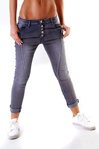 Lexxury Fashion4Young Damen Jeans Röhrenjeans Haremshose Damenjeans...