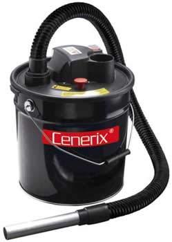 ASPIRACENERE ELETTRICO CENERIX 800 W - 18 L con doppio filtro e lancia piatta