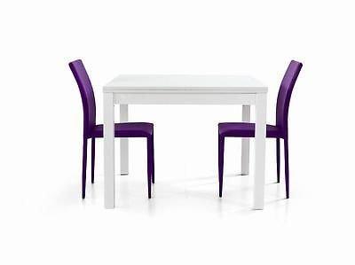 Fashion FC559V Commerce Tavolo Allungabile, Legno, Bianco, 90 x 90 x 76 cm