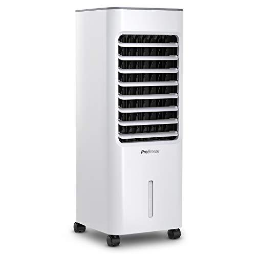 Pro Breeze Raffrescatore Evaporativo 5L con 4 Modalità Operative, 3 Velocità della Ventola, Display LED e Telecomando. Raffreddatore ad Aria ad Alta Potenza con Timer