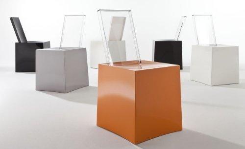 Kartell, Miss Less, Sedia, Bianco (Bianco/Trasparente), 42 x 85 x 45 cm