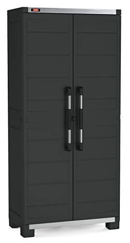 KETER Garage Armadio Alto XL con 3 Ripiani, Nero