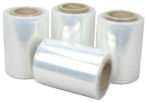 Palucart 4 rotoli estensibile manuale rotolo film pellicola per ilmballare pacchi piccole pedane 300 gr