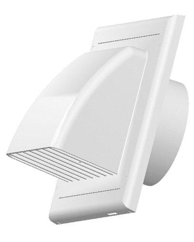 Griglia di ventilazione di scarico zuluft cappa travestimento valvola antiritorno Ø 100 mm ABS...