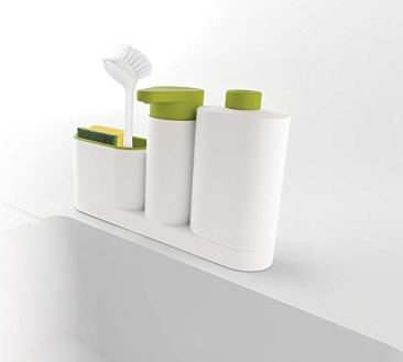 New Arrival Plastic 2 In 1 Multipurpose Sink Tidy Set Liquid Soap Dispenser, Standard, Multicolour 8