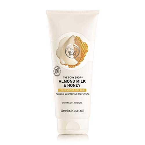 The Body Shop Almond Milk & Honey Body Lotion, Paraben-Free Cream for Sensitive, Dry Skin, 6.75 Fl. Oz.