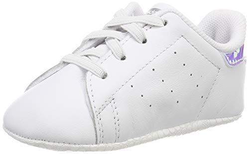 adidas Stan Smith Crib, Sneaker Unisex Bimbo, Bianco (Ftwr White/Ftwr White/Silver Met. Ftwr White/Ftwr White/Silver Met.), 18 EU