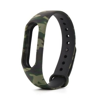 Brain Freezer J Printing Replacement Army Camouflage Strap Smart Activity Tracker for Xiaomi MI Band 2 and Mi Band HRX