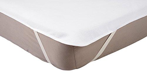 AmazonBasics - Coprimaterasso Impermeabile in Molton per Lettino, 70 x 140 cm, Bianco